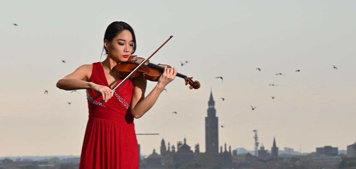 Lena Yokoyama violinista del Museo del violino di Cremona